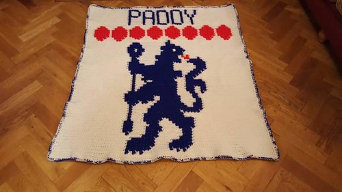 Chelsea football blanket for Paddy