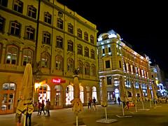 Kalku Street in Old Town of Riga, Latvia. August 17, 2016 (Aris Jansons) Tags: theatre russiantheatre newyorker livusquare kalkustreet oldtown night city capital riga rga latvija latvia baltic europe summer 2016 people