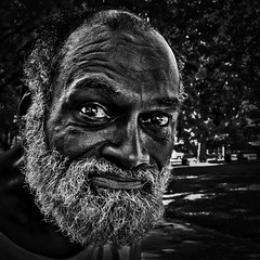 "Howard, ""He Knew The Indifference Of Others But Always Spoke With Compassion"", Franklin Park, Washington, D.C (Gerald L. Campbell) Tags: alienation aloneness bw blackmale citylife dc washingtondc digital downtown economicjustice franklinpark homelessness homeless indifference injustice inequality love portrait portraitphotography squareformat streetphotography street spirituality spiritualindifference socialdocumentary canong7x"