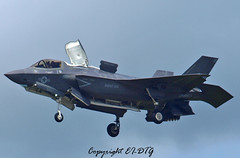 Lockheed Martin F-35B (Lightning) U.S.M.C. (EI-DTG) Tags: aircraftspotting planespotting farnborough2016 farnboroughairshow2016 fab 16jul2016 lockheed f35 lightning usmc vtol martin