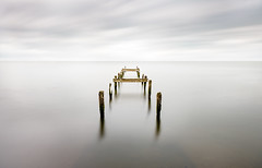 Broken (Wojtek Piatek) Tags: broken pier wodden lake long exposure sony a99 zeiss landscape ireland lough neagh water clouds northern simple bridge pomost travel irish