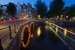 Leidsegracht light trails (northcountrygirl) Tags: amsterdam netherlands canal leidsegracht keizersgracht sigma1020 longexposure lighttrails lightstreams city