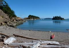In the lee (edenseekr) Tags: secluded cove sucia sanjuanislandswa kayak beach driftwood