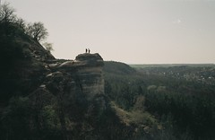 Nyakas-k (szmenazsfi) Tags: smena smenasymbol analogue analog film 35mm iso200 agfaiso200 agfa skyline rock hill hills climbing hiking exploring landscape spring nyakask biatorbgy