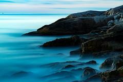 Nova Scotia, Canada (Gary Grout Photography) Tags: rocks water blue longexposure mood mist morning sunrise