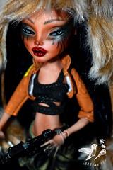 Wasteland Wanda (saijanide) Tags: custom monster high doll mh customized ooak repaint faceup apocalypse wasteland fallout mad max saijanide cleo de nile