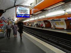 Place Denfert-Rochereau metro (eutouring) Tags: paris france travel placedenfertrochereau square metro people train trains
