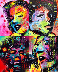 Marilyn Monroe, Michael Jackson, Jimi Hendrix and John Lennon. (codedtestament777) Tags: graffiti art beautiful love life design surreal text bright sign painting writing nature crazy weird fabulous environment cartoon animation outdoor street photo border photoborder illustration collection portrait face expression character marilynmonroe michaeljackson jimihendrix johnlennon music peace pop rock rb songs drawing wall abstract people groupphoto