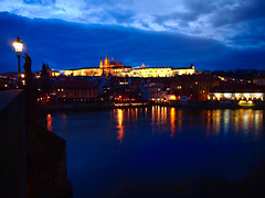 Pargue Castle by night (Halibel14) Tags: praguecastle night prazskyhrad prague castle europe olympus pen epl1 panasonic lumix