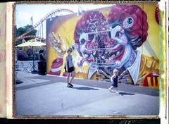 (.tom troutman.) Tags: polaroid land 250 instant film fuji fp 100c brooklyn ny coneyisland nychos mural