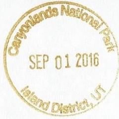 Canyonlands NP - Island District (colinLmiller) Tags: 2016 passport stamp rubberstamp nps blm nationalparkservice bureauoflandmanagement bonus green canyonlandsnationalpark moab utah islandinthesky island district