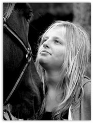 Love (patrick_milan) Tags: noiretblanc blackandwhite noir blanc monochrome nb bw black white hors girl woman women fille femme portrait cheval