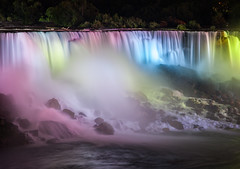 Spectrum (Jack Landau) Tags: niagara falls american night illumination lights spotlights projection water movement exposure colours color