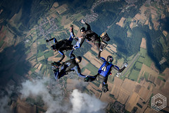 4way FS Team - KO's (mathieufournel) Tags: skydiving sky flying jumping blueskies parachute action sports