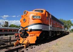 Royal Gorge Route F7 402 (Laurence's Pictures) Tags: royal gorge train engine f7 locomotive classic streamliner passenger rail railway emd gm electromotive steel transportation