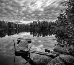 Calm b+w (p.josefsson) Tags: sweden landscape nature clouds water reflections pentaxk3ii sigma1020 awesome beautiful peaceful