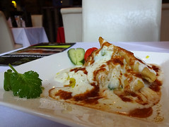 Samosa chat at Yak & Yeti, Eltham, London SE9 (Kake .) Tags: yakyeti eltham restaurant london se9
