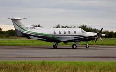 SP-NWM (goweravig) Tags: spnwm swanseaairport pilatus pc12 visiting aircraft swansea wales uk