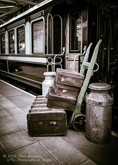 Station Platform Luggauge (Peter Greenway) Tags: railway luggauge platform quaintonrailwaymuseum railwaycarriage steamtrain railwaytrack cases carriage station