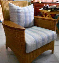 Wicker arm chair, set of two 7000 baht