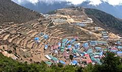 Namche Bazar (vittorio vida) Tags: everest trek everesttrekking children asia monks glaciers snow nepal temples sky trekking yak yaks puja stupa chola namchebazar lukla landingluklamounteverest pumori amadablam himalaya asianchildren everestbasecampbazar luklalanding mountcamp yellow tent sherpa porters chooyu tengboche kalapattar lacho oyu nuptse lhotse chorten gokyo 50