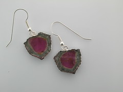 Tourmaline slices - earrings 08.27.12
