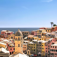 Vibrant hues of Vernazza above the Mediterranean Sea (Bn) Tags: vernazza italy cinqueterre unesco heritage harbor italianriviera fishing village picturesque colorful charming viadellamore vineyards cactus olives hiking trail lovers walk viewpoint church ruined castle mediterranean sea holiday travel tourist beach sand blue water boats colors nocars margherita dantiochia rockycoastline santa pamtree summer opuntia fruit liguria swimming sunbathing sun sunbather hues hue vibrant 50faves topf50 100faves topf100 clear day