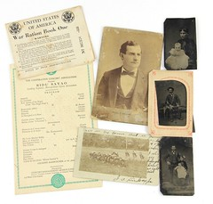 12. Antique Tin-Types, Cabinet Cards & Ephemera