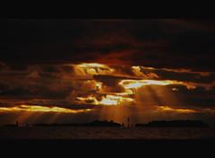 October evening (Basse911) Tags: autumn sunset clouds suomi finland islands evening balticsea hanko sunrays archipelago hang