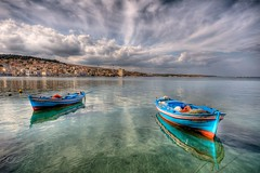 Lesvos, Greece (Nejdet Duzen) Tags: trip travel sea cloud turkey island ada boat trkiye greece lesvos deniz sandal bulut seyahat mitilini buoyant midilli mygearandme