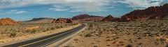 Valley of Fire Road (K r y s) Tags: road park unitedstates desert nevada perspective route parc sanddunes mojavedesert overton nationalnaturallandmark ouestamericain nevadastateparks erodedsandstone redsandstoneformations