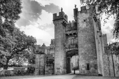 raby castle (robbie484) Tags: bw castle monochrome canon eos entrance elite greyscale countydurham raby staindrop