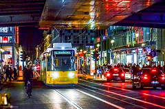 M1 Rosenthal Nord (nbcmeissner) Tags: blue red orange berlin rot yellow germany deutschland tram gelb blau nationalgeographic norddeutschland northerngermany friedrichstrase stasenbahn nikond7000