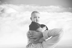{head in the clouds} (pixelmama) Tags: california family blackandwhite bw love beach clouds coronado headintheclouds pixelmama