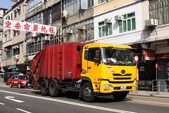 UD Trucks rubbish truck in Hong Kong (Marcus Wong from Geelong) Tags: city urban hongkong kowloon kowlooncity