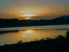 Golden hour (blogspfastatt (+3.000.000 views)) Tags: light sunset sun colour landscape dawn twilight colorful colours waterfront alsace lumiere crpuscule couleur crepuscule enjoylife michelbach pfastatt blogspfastatt