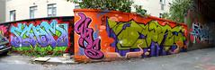 Panorama 12 v2 (collations) Tags: toronto ontario graffiti was panoramas tags more stitches chuck tagging graffitiwalls wascrew