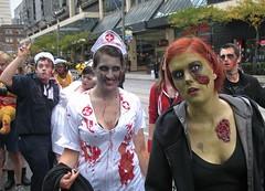 toronto zombie walk 2012 (Mr.  Mark) Tags: halloween photo costume scary funny downtown mask zombie crowd stock makeup parade creepy gross 2012 freakshow torontozombiewalk markboucher