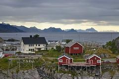 Lofoten (elosoenpersona) Tags: houses sunset sea norway islands town noruega lofoten reine artic elosoenpersona rorbour norweggia