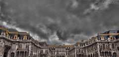 The Palace of Versailles (Yathrth) Tags: paris france dark de looking cloudy gates stormy palace versailles chateau towards entrace yatharth yatharthguptacom