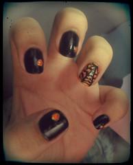 Halloween Nails (Mayra Arnaldo Chomski) Tags: halloween de laranja preto amarelo impala ponto caveira semana unhas ch risque unha teia capricho colorama caveiras caveirinhas arranha unhadasemana unhadasemanacapricho
