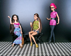 Waiting Bliss (fashionisto2k) Tags: glasses dolls sassy ooak barbie teresa mattel fashionistas reroot raquelle f2k