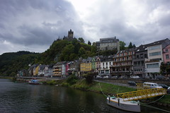 Cochem (barnyz) Tags: urban castle architecture river germany landscape sony medieval historic valley 16mm cochem moselle rhinelandpalatinate cochemzell nex3