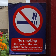 No smoking (Leo Reynolds) Tags: sign canon eos iso100 7d f80 25mm signsafety signno hpexif 0011sec signnosmoking signcirclebar xleol30x