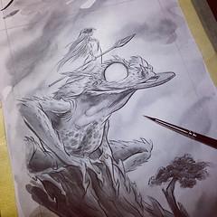 Guardians among us #fantasy #legend #frog (Martin Hsu) Tags: square squareformat hudson iphoneography instagramapp uploaded:by=instagram
