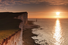 Beachy Head Autumn Sunrise (JamboEastbourne) Tags: autumn sea england cliff lighthouse sunrise sussex chalk head east beachy