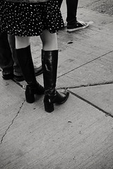 boots - a juxtaposition (patrickhruby) Tags: street urban boots cleveland streetphotography skirt clevelandohio converse intersection chucktaylors allstars observed