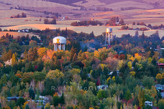 University of Idaho Fall Colors (Ryan McGinty) Tags: autumn sunset landscape moscow idaho universityofidaho watertowers uofi latahcounty ryanmcginty