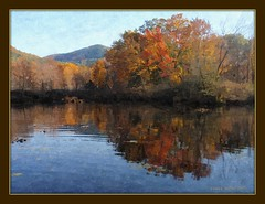 Fall pond (edenseekr) Tags: fall pond digitalpainting adirondack pilotknob