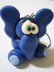 Chaveiro Elefante- Zoião (2) (Kelly arte e costura) Tags: artesanato biscuit trabalhosmanuais lembrancinhas chaveiros porcelanafria